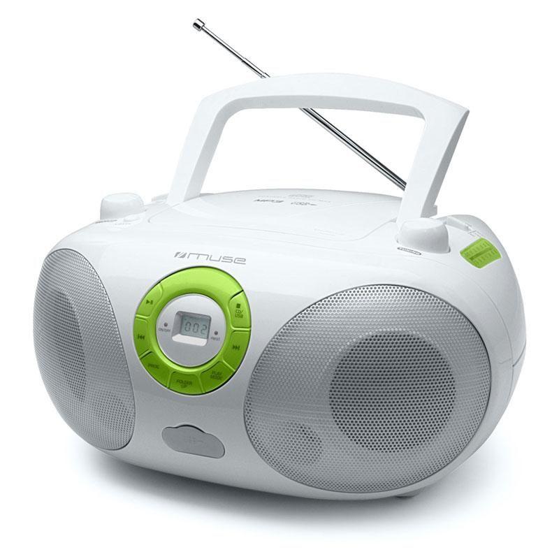 Muse M25-RDW Lecteur CD-Radio USB-MP3 portable Boombox Cliquer sur
