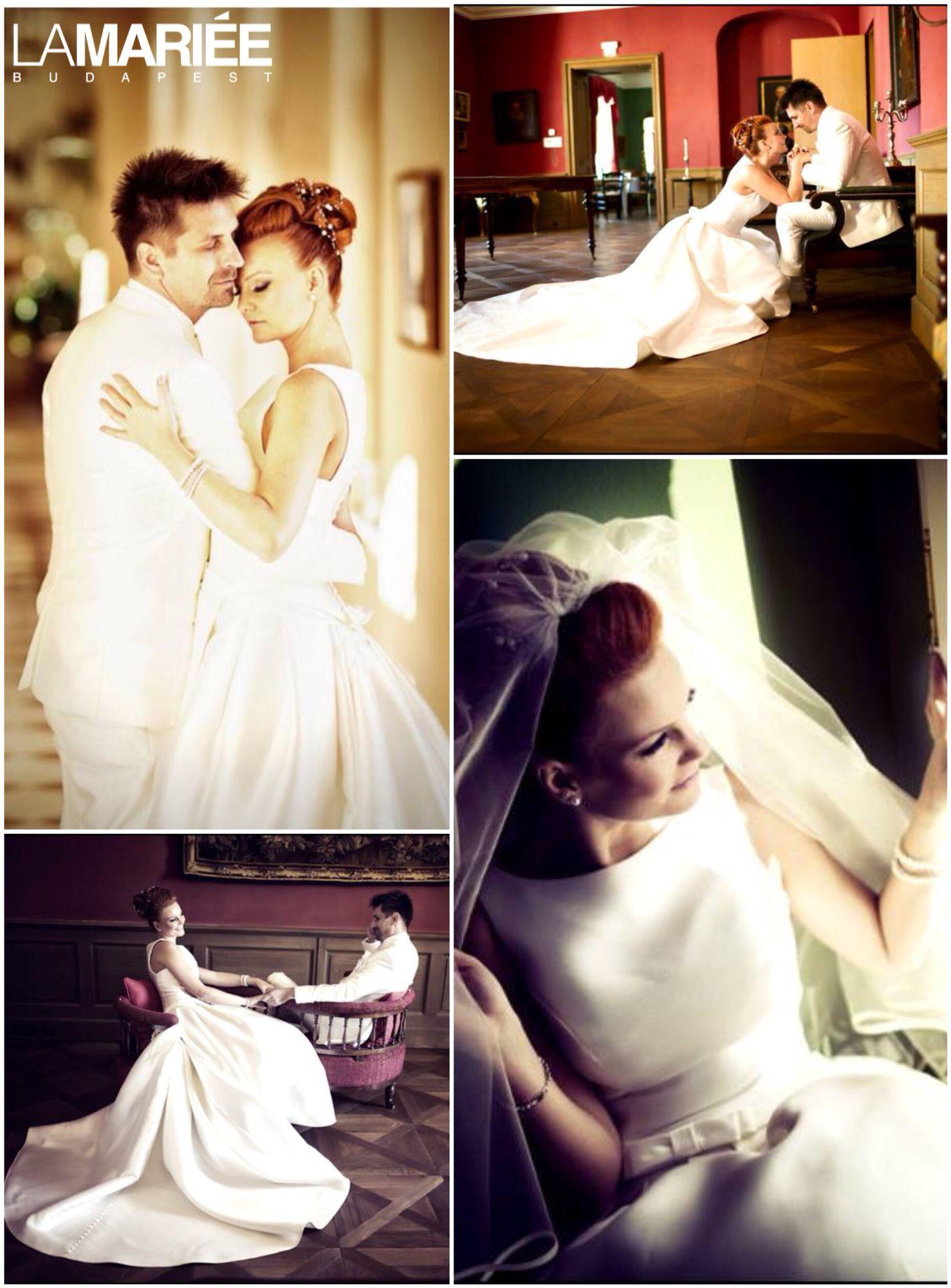 Barcaza esküvői ruha - 2015 Pronovias kollekció - Krisztina menyasszony -La  Mariée Budapest esküvői ruhaszalon bc4cf4bc8e