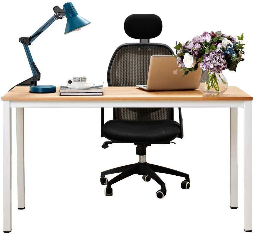Need Computertisch Schreibtisch 138x55cm Pc Tisch Burotisch Arbeitstisch Esstisch Fur Home Office Teak Weiss Ac3 In 2020 Home Office Einrichten Burotisch