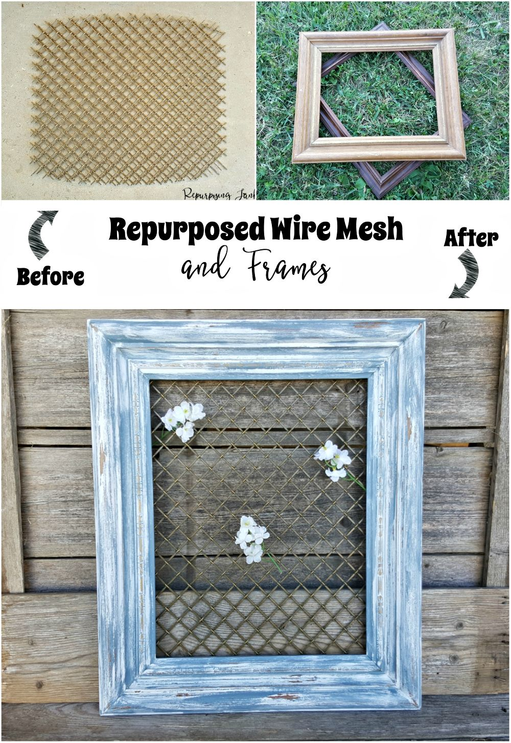 How to Repurpose Wire Mesh and Frames | Pinterest | Glass cabinet ...