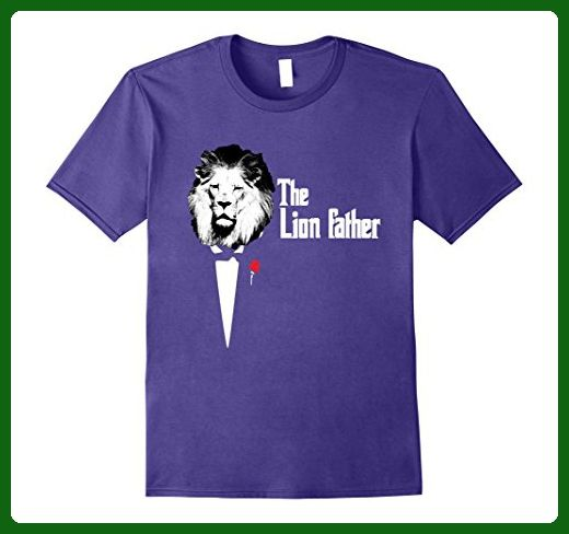 Mens Cute Papa Lion Father Suit Tie Animal Tee Shirt Medium Purple - Relatives and family shirts (*Amazon Partner-Link)