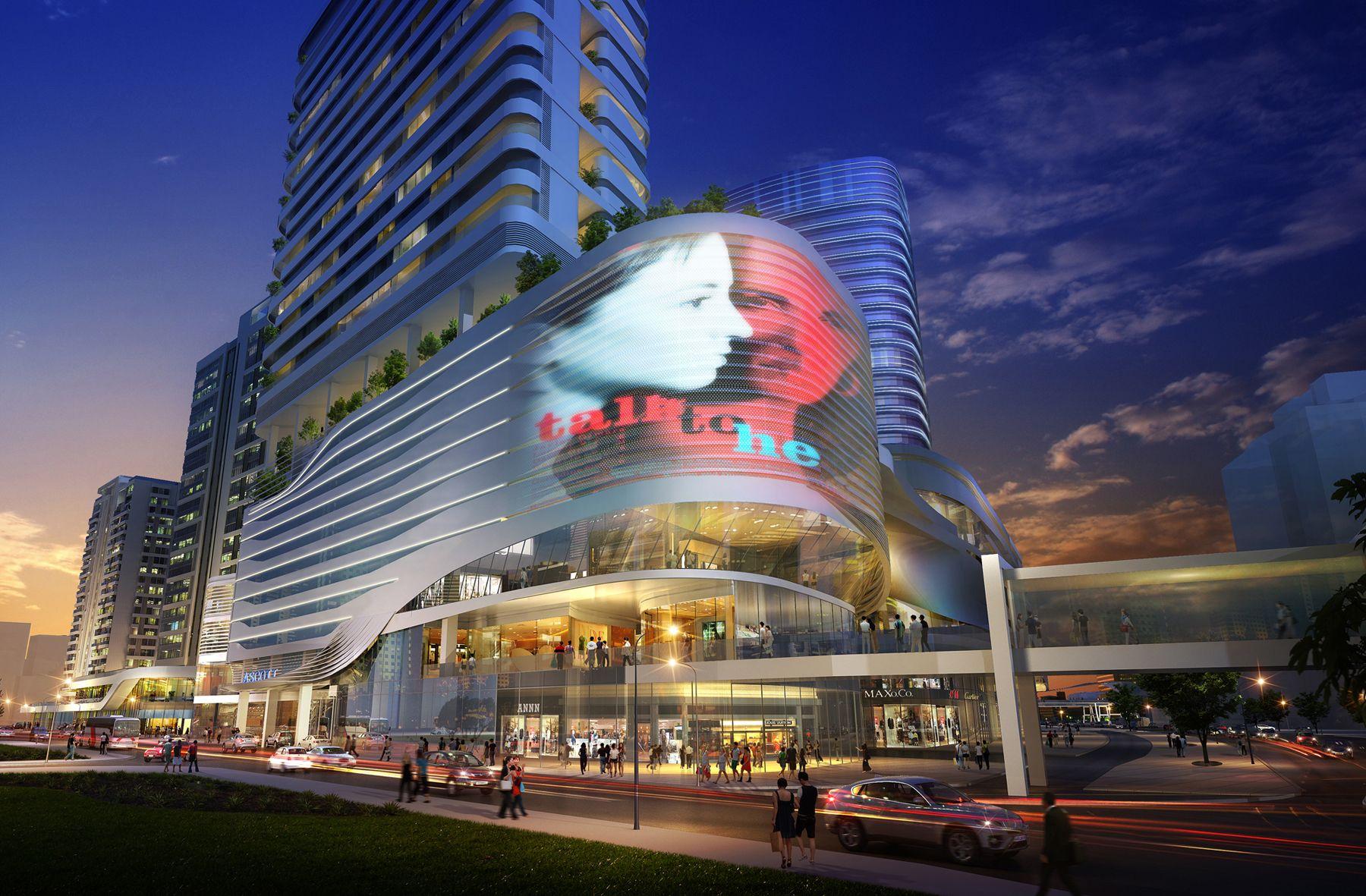 Raffles City Shenzhen China Centro Comercial Edificios Fachadas