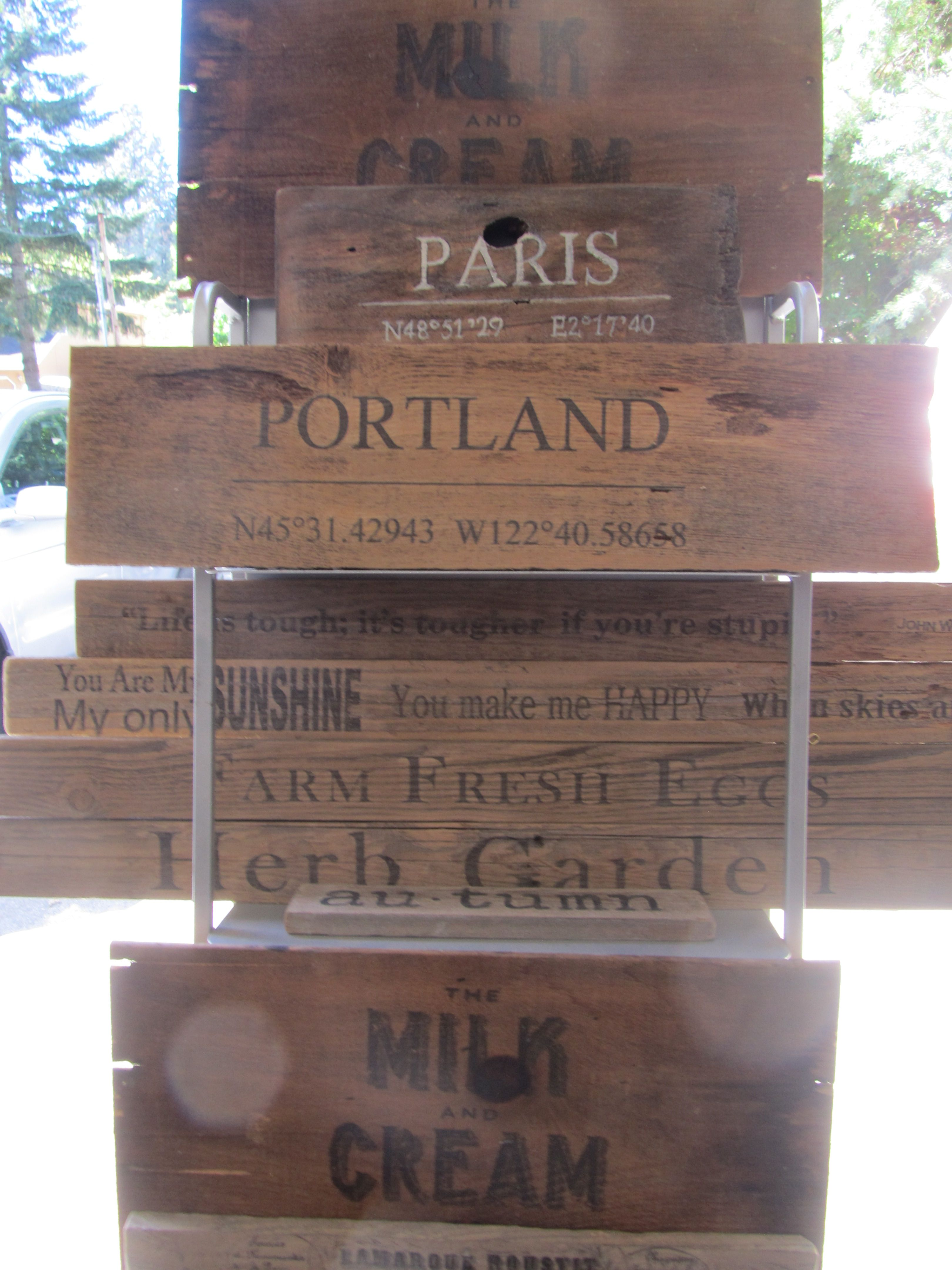 Wood Signs Furniture Projects Craft Wooden Plaques