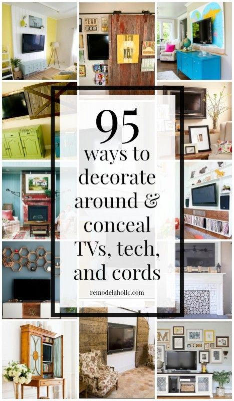 95 Ways To Hide Or Decorate Around The TV, Electronics, And Cords  (Remodelaholic)
