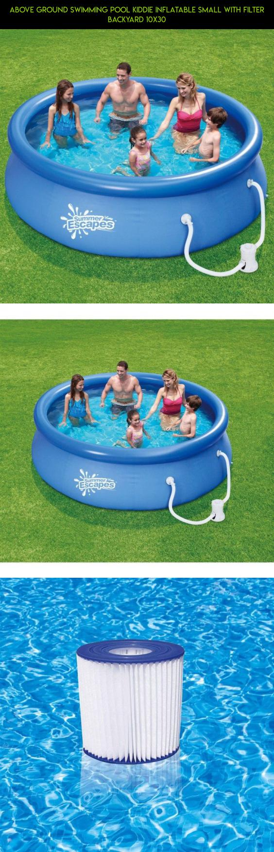 above ground swimming pool kiddie inflatable small with filter
