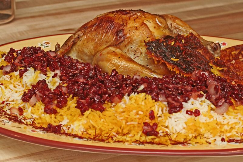 Zereshk polow barberry rice saffron chicken the persian zereshk polow barberry rice saffron chicken the persian national dish i have cooked this its every bit as delicious as it looks forumfinder Images