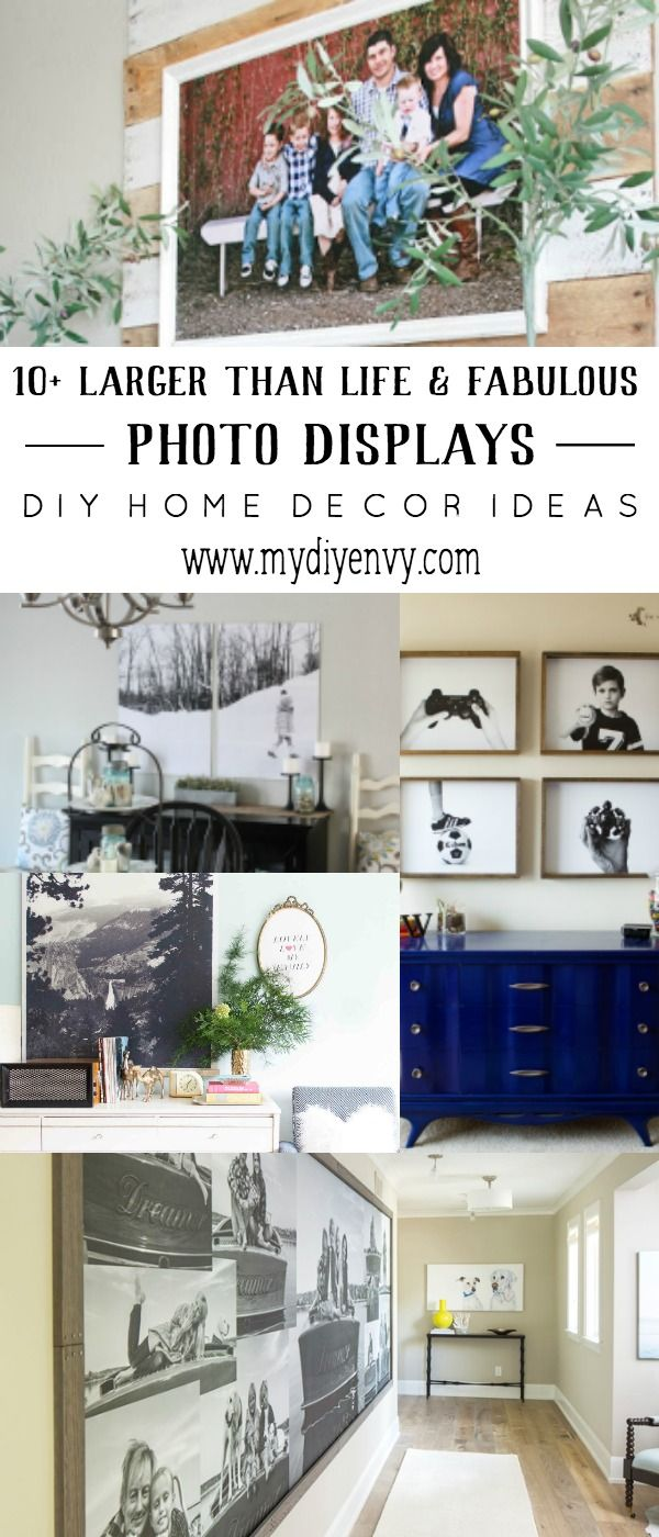 072f5ead5df Do you have a large wall that needs some decor  Here are some large DIY  photo display ideas you can try! Make your own DIY photo display and save!