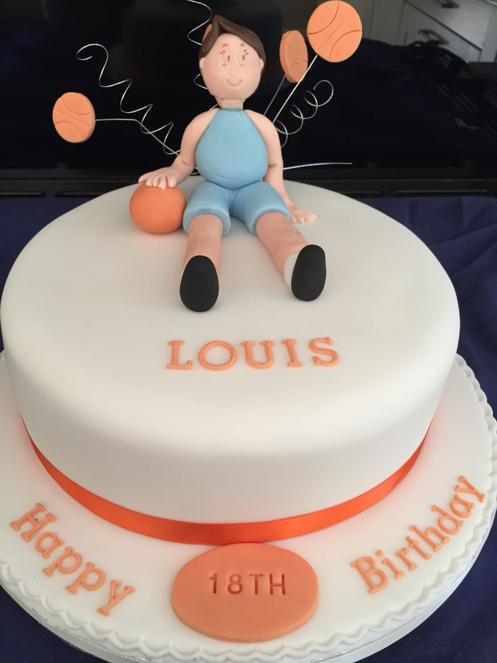 18th birthday cake for a basket ball fanatic