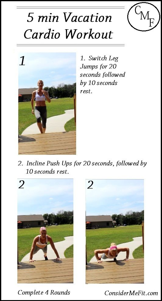 5 Min Hiit Cardio Vacation Workout Here S Is A Short HIIT Style