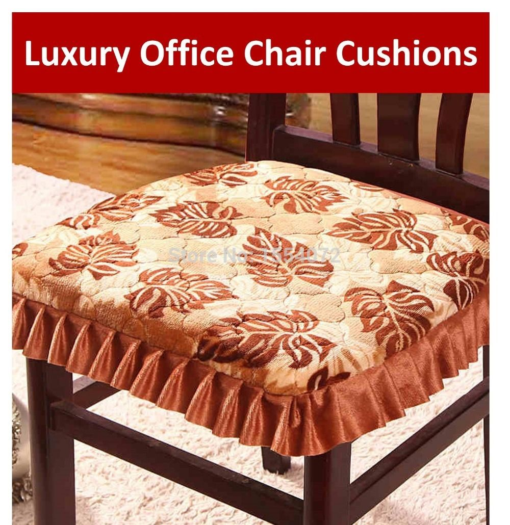 43x41cm Luxury Office Chair Cushions With Ties Skirt S Fabric