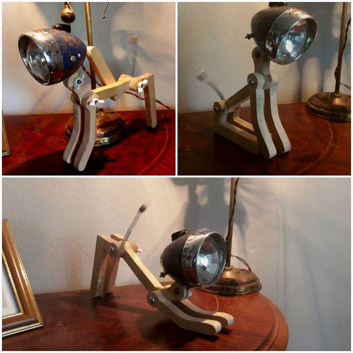 Wood dog - bike head lamp -