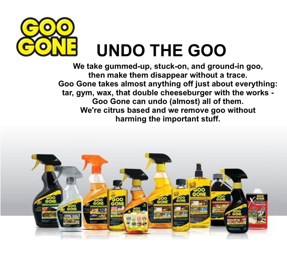 (Goo Gone From stain removal to sticker removal and