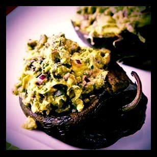 Avocados are a meal in this recipe for Guacamole Stuffed Poblano Peppers.