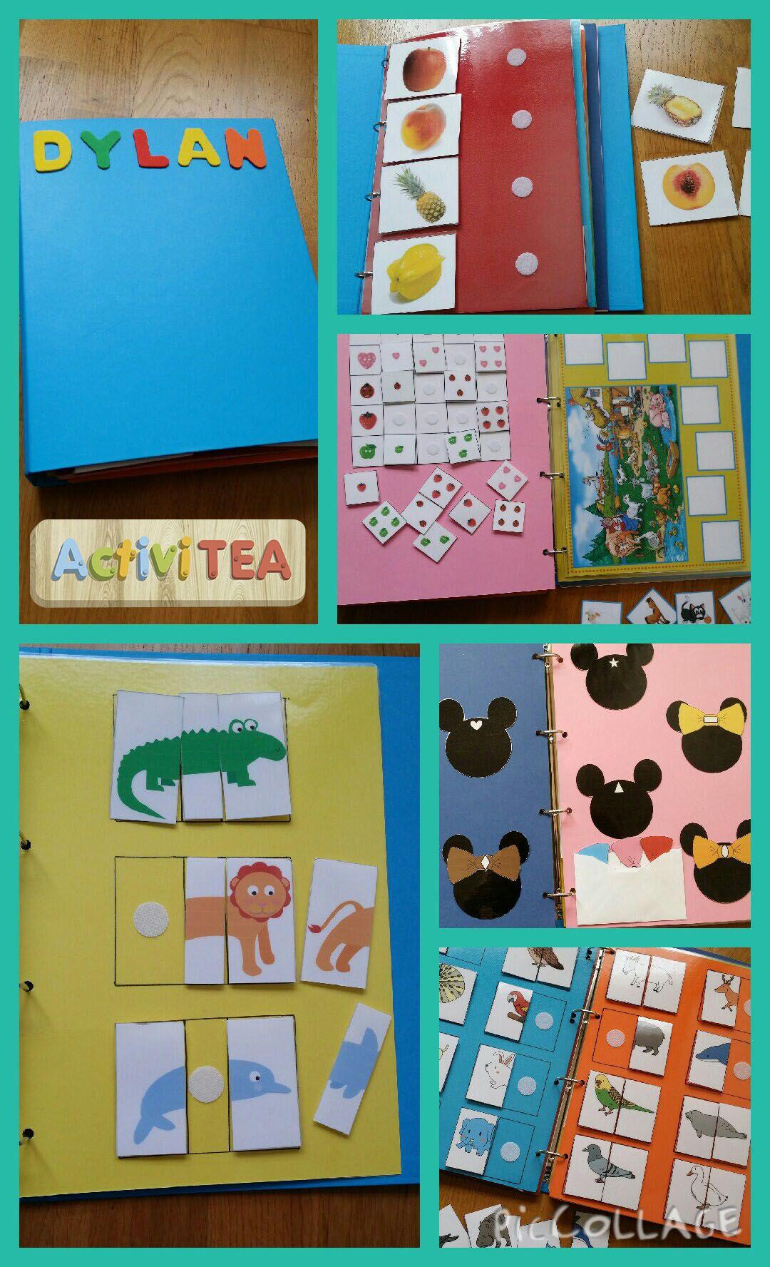 Carpeta De Actividades Con Velcro Actividades Para Niños Autistas Aprendizaje Niños Actividades Para Niños