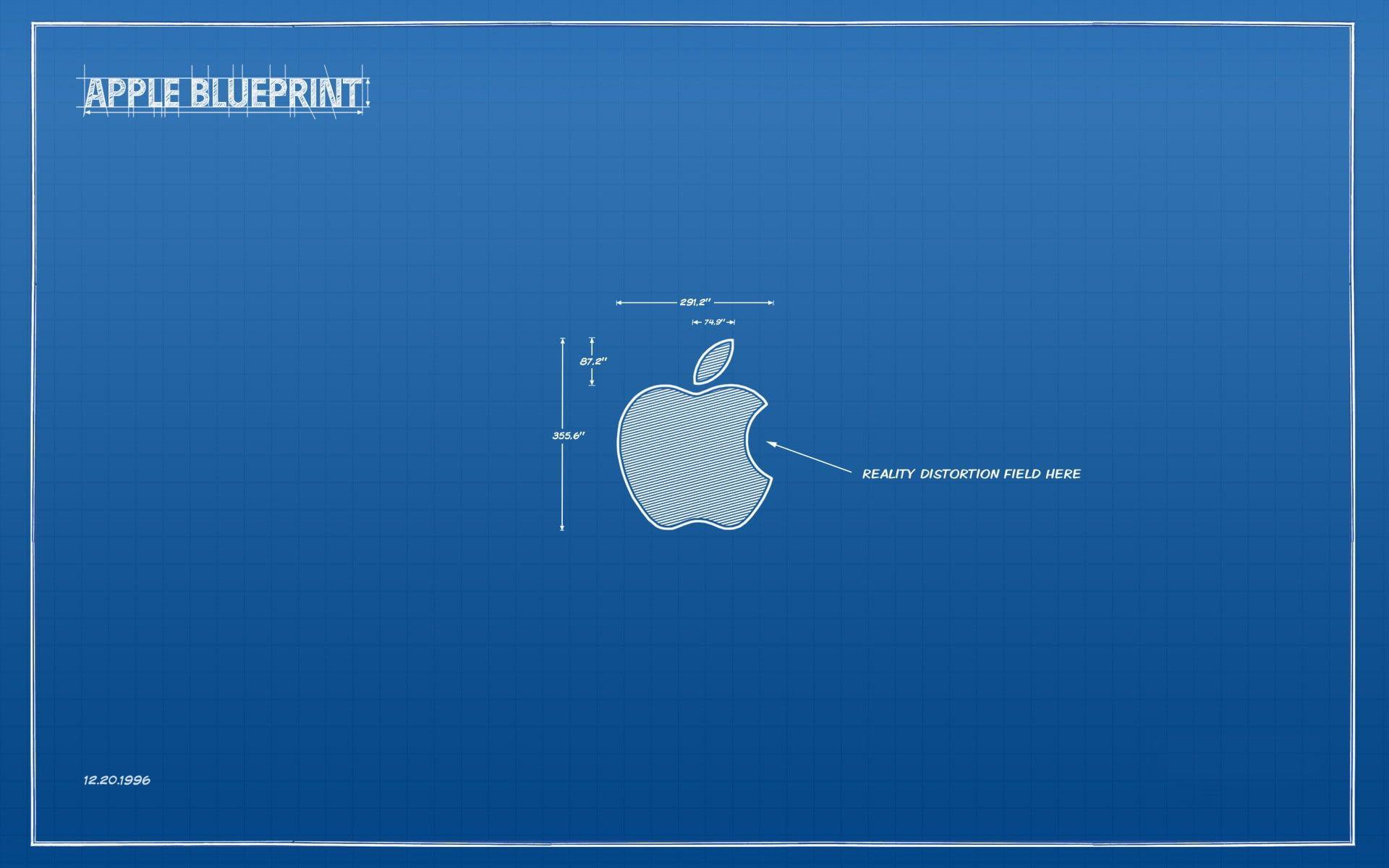 Apple Blueprint Apple Inc. technology humor minimalism