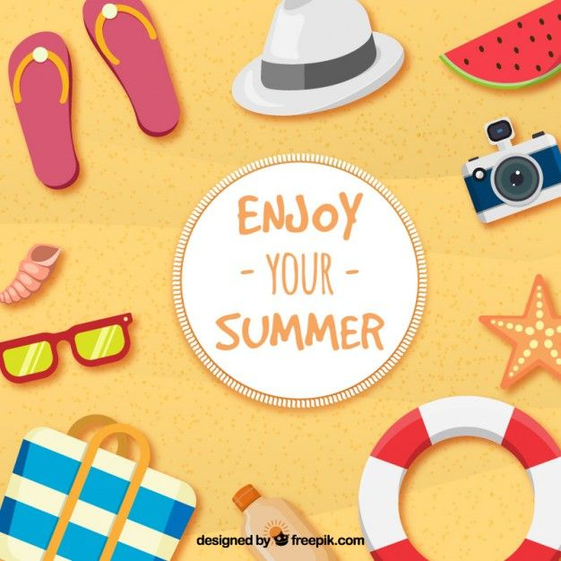 enjoy your summer free vector illustrations pinterest summer