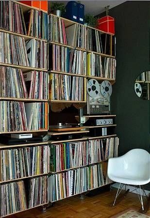 Nyc Apartment Analog System Virtual Systems Record Room Vinyl Storage Audio Room