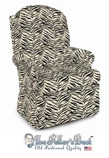 Zebra Print Swivel Rocker Chair Swivel Rocker Chair