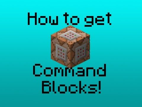 ▷ HOW TO GET COMMAND BLOCKS IN MINECRAFT! - YouTube