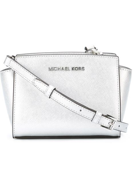 Shop Michael Michael Kors mini  Selma  crossbody bag in Pozzilei Treviglio  from the world s best independent boutiques at farfetch.com. 319ccd62c7a