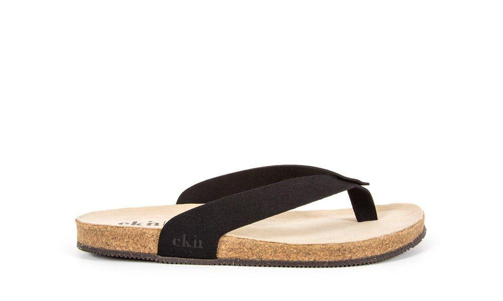 Veganer Sandale - EKN Footwear Sandal Cork Black