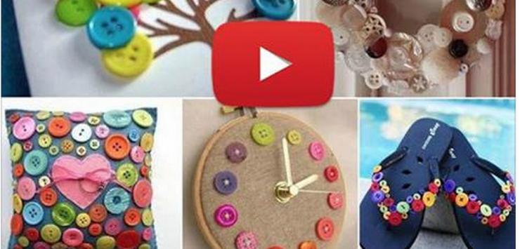 Une multitude de bricolages à faire juste avec des boutons !