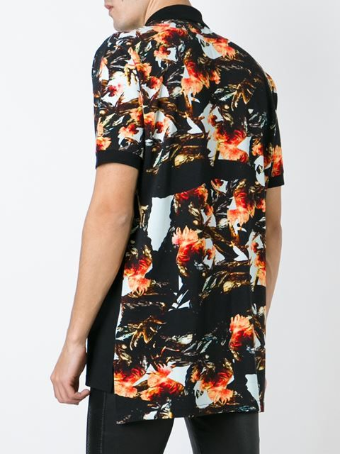 43d099ecaa03 Givenchy floral oversize polo shirt