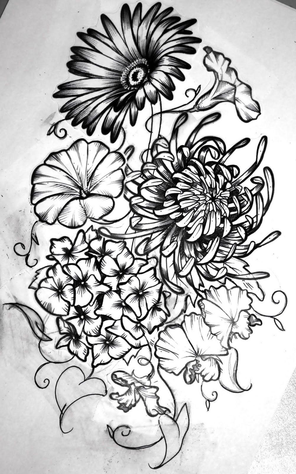 Birth month flowers combined Birth flower tattoos