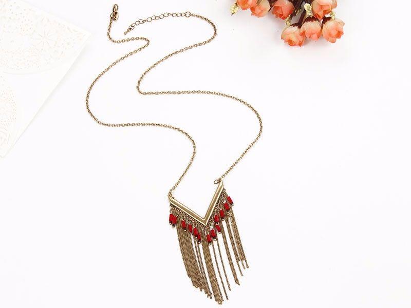 Charisma fringe long necklace fringe handmade jewelry necklace charisma fringe long necklace fringe handmade jewelry necklace women fashion mozeypictures Image collections