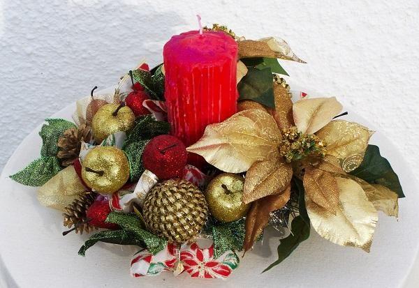 Centros de mesa caseros para Navidad A la hora de decorar nuestra