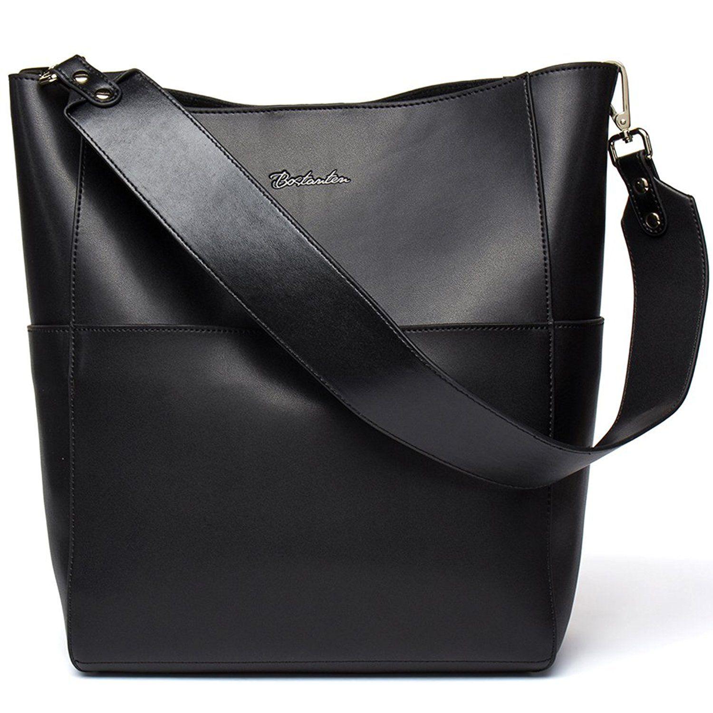 BOSTANTEN Women Leather Handbag Designer Hobo Shoulder Bag Tote Purses