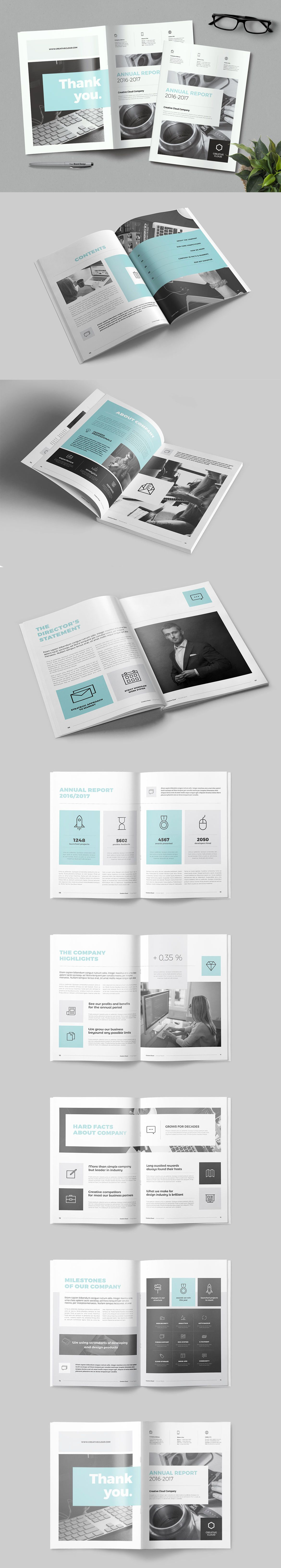 Annual Report Brochure Template Indesign Indd  Layout Design