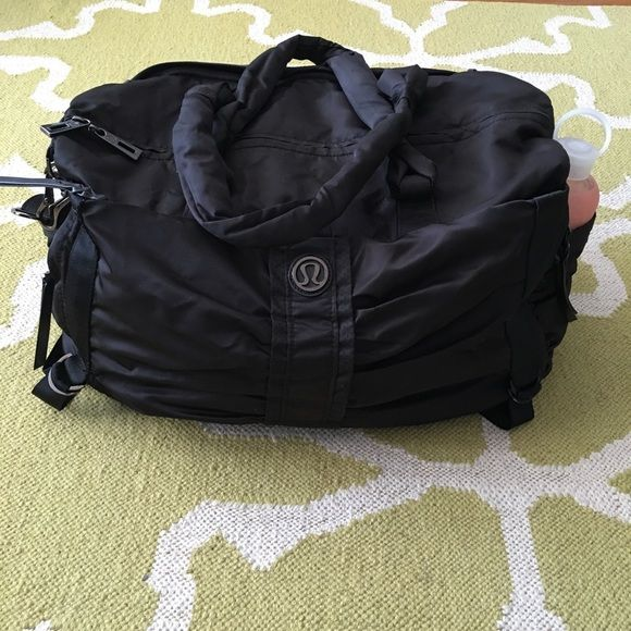 a781298457 Lululemon Destined For Greatness Gym Bag Duffel This rare Lululemon bag in  black is in great condition - never been machine washed & no stains, tears,  ...