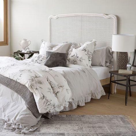 Grey washed percale bed linen dormitorios principales - Muebles zara home ...