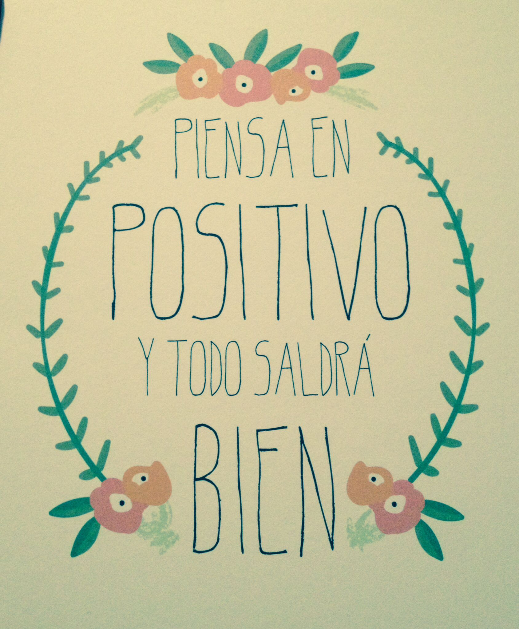 Piensa en positivo y todo saldr bien mr wonderful for Todo para el arquitecto