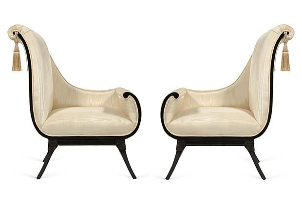 American Regency Chairs (With images)  Regency furniture
