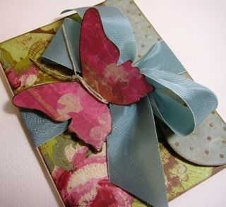Butterfly card by Paradise Scrapbook Boutique in Chico, CA.