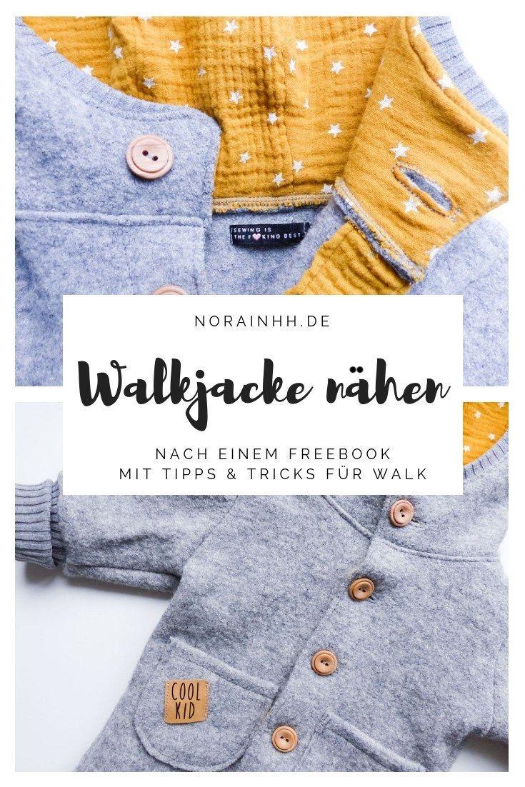Walkjacke nähen für das Baby | Freebie von Lila wie Liebe | norainhh.de #gratisschnittmuster