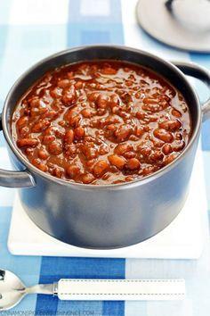 Slow-cooker Boston Baked Beans cinnamonspiceandeverythingnice.com