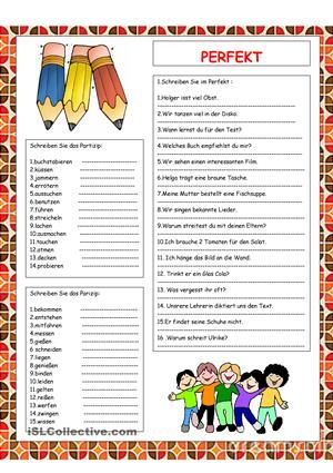 Perfekt :Wiederholung | Pinterest | Learn german, Language and ...