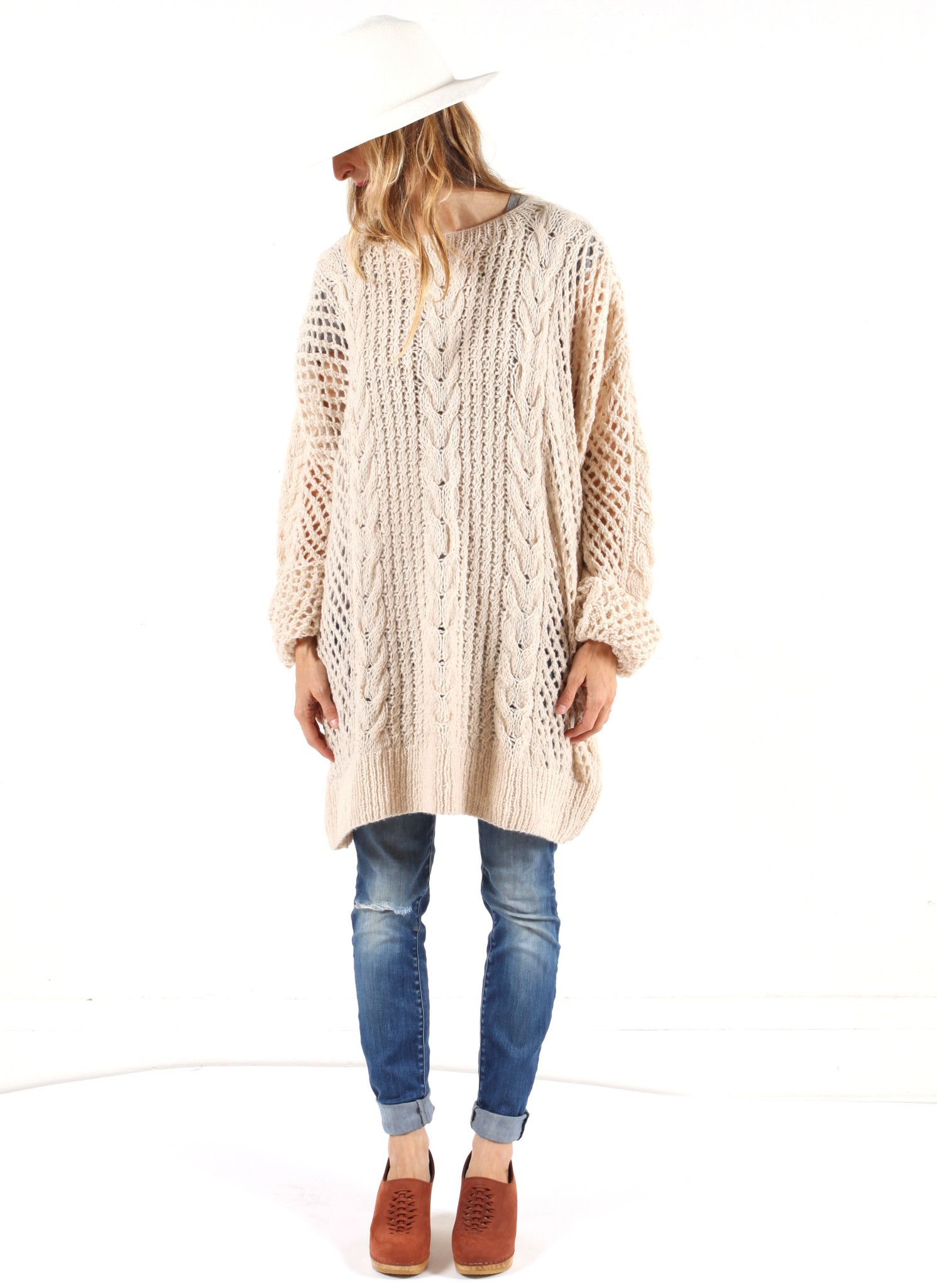 Back in Stock! Ryan Roche Oversize Cashmere Cable knit