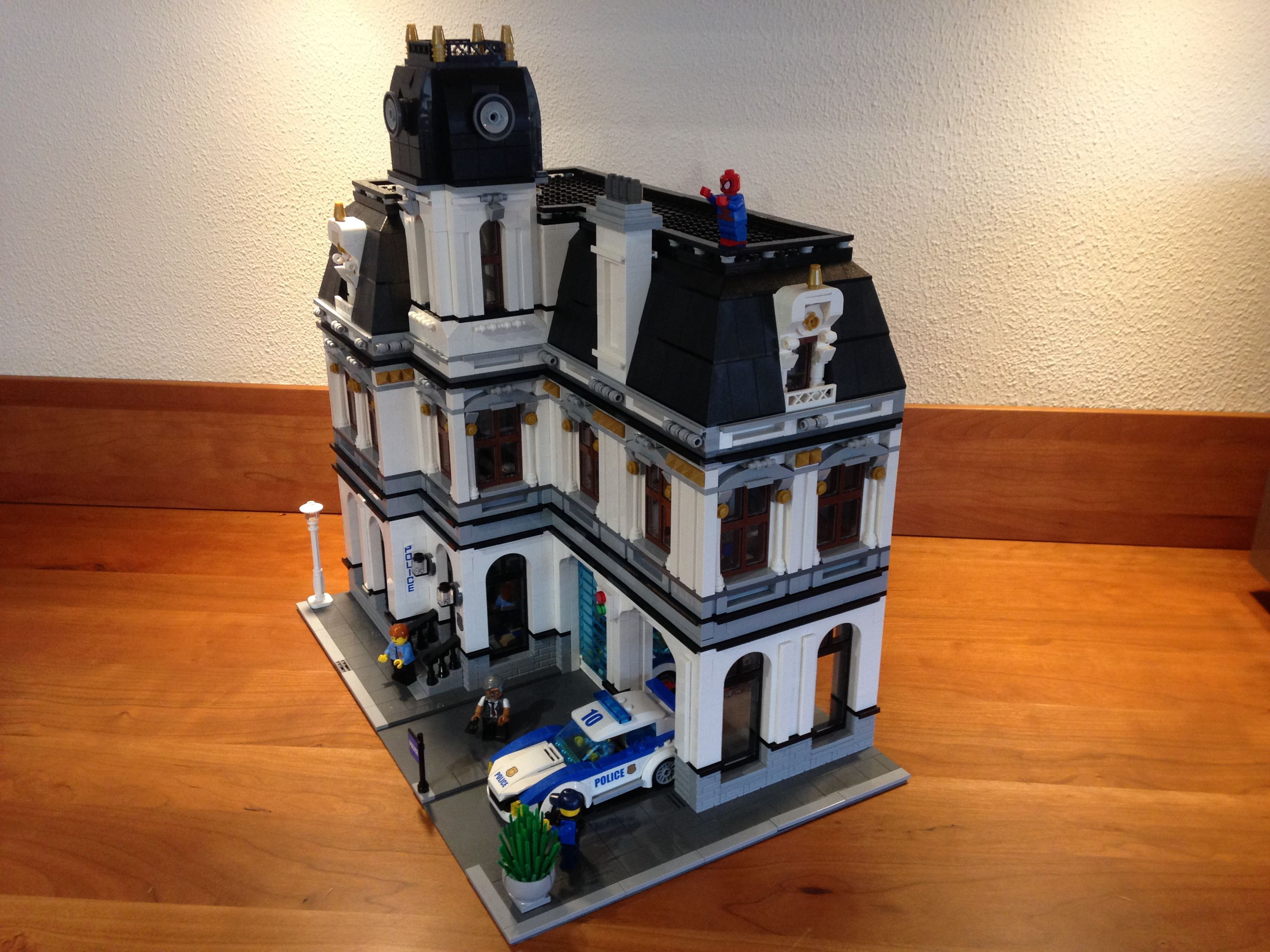 Lego Police Station Moc Modular Ii Architecture Pinterest Headquarters 7744