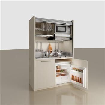 K102 MiniKitchen - Small Kitchens, Foldaway Kitchenettes - VIEW - dunstabzugshaube kleine küche
