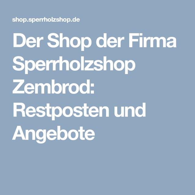 Der Shop Der Firma Sperrholzshop Zembrod Restposten Und Angebote