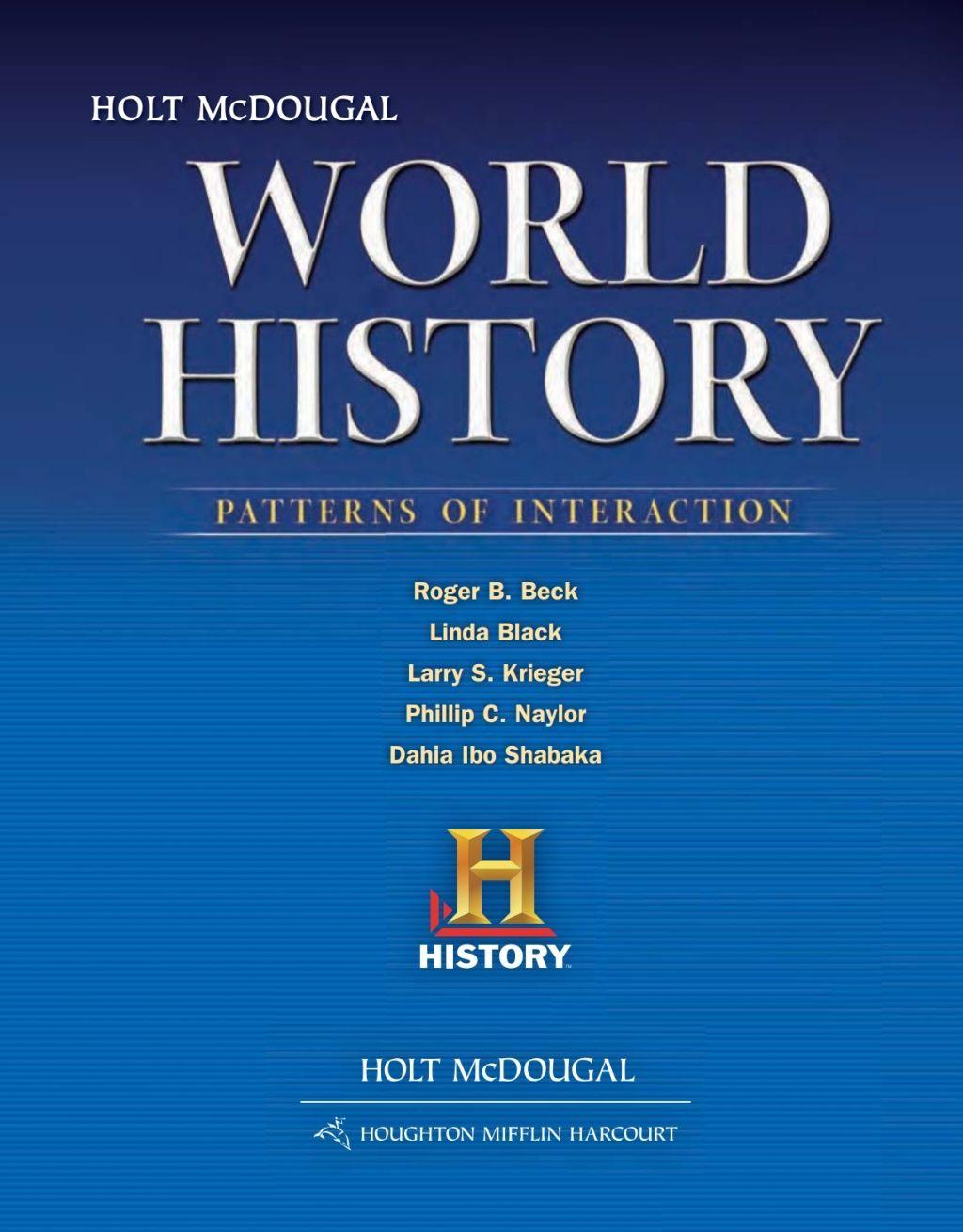World History Patterns Of Interaction Survey Ebook