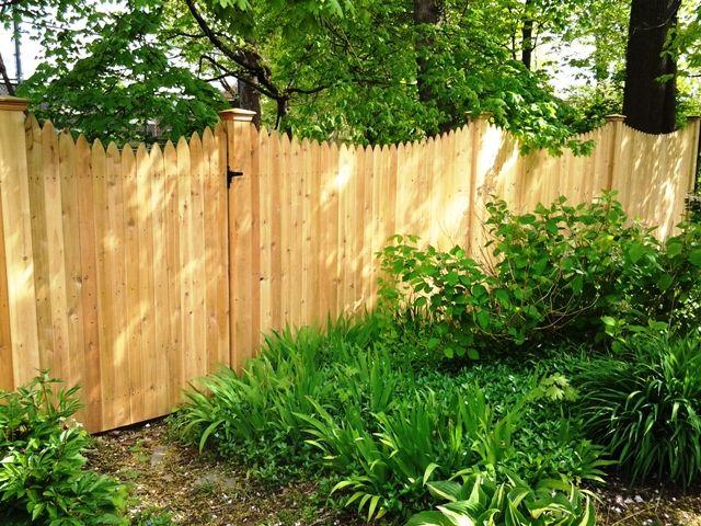 Scalloped Stockade Privacy Fence