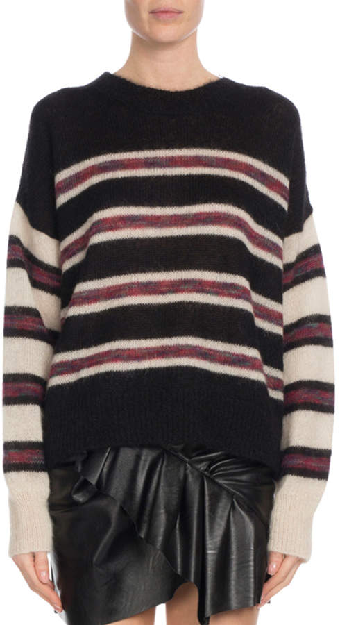 70735ebc753 Etoile Isabel Marant Russell Striped Mohair Pullover Sweater in 2019 ...