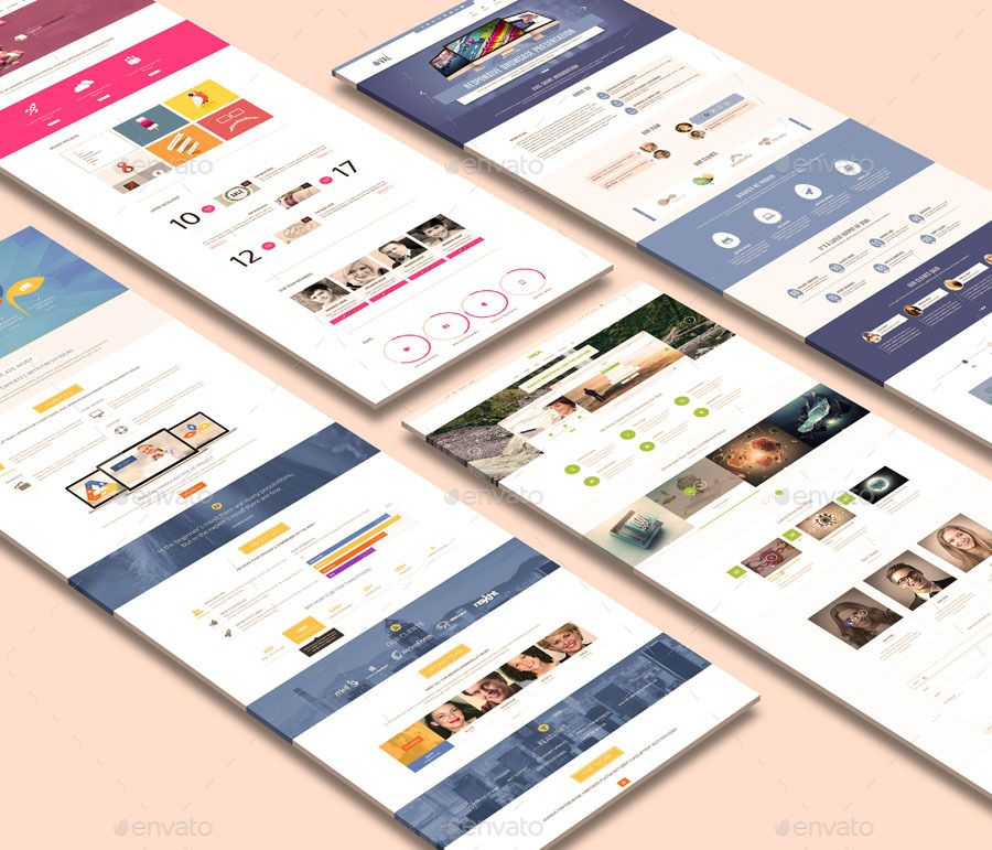 Landing Page Mock Up Landing Page Perspective Web Web Template