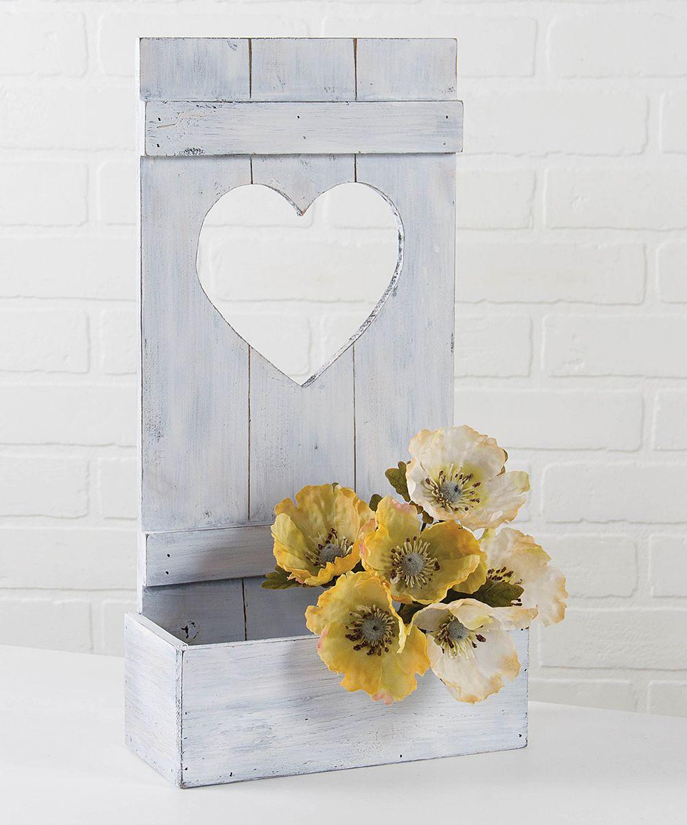 Heart Shutter Flower Box Flower boxes, Baskets on wall