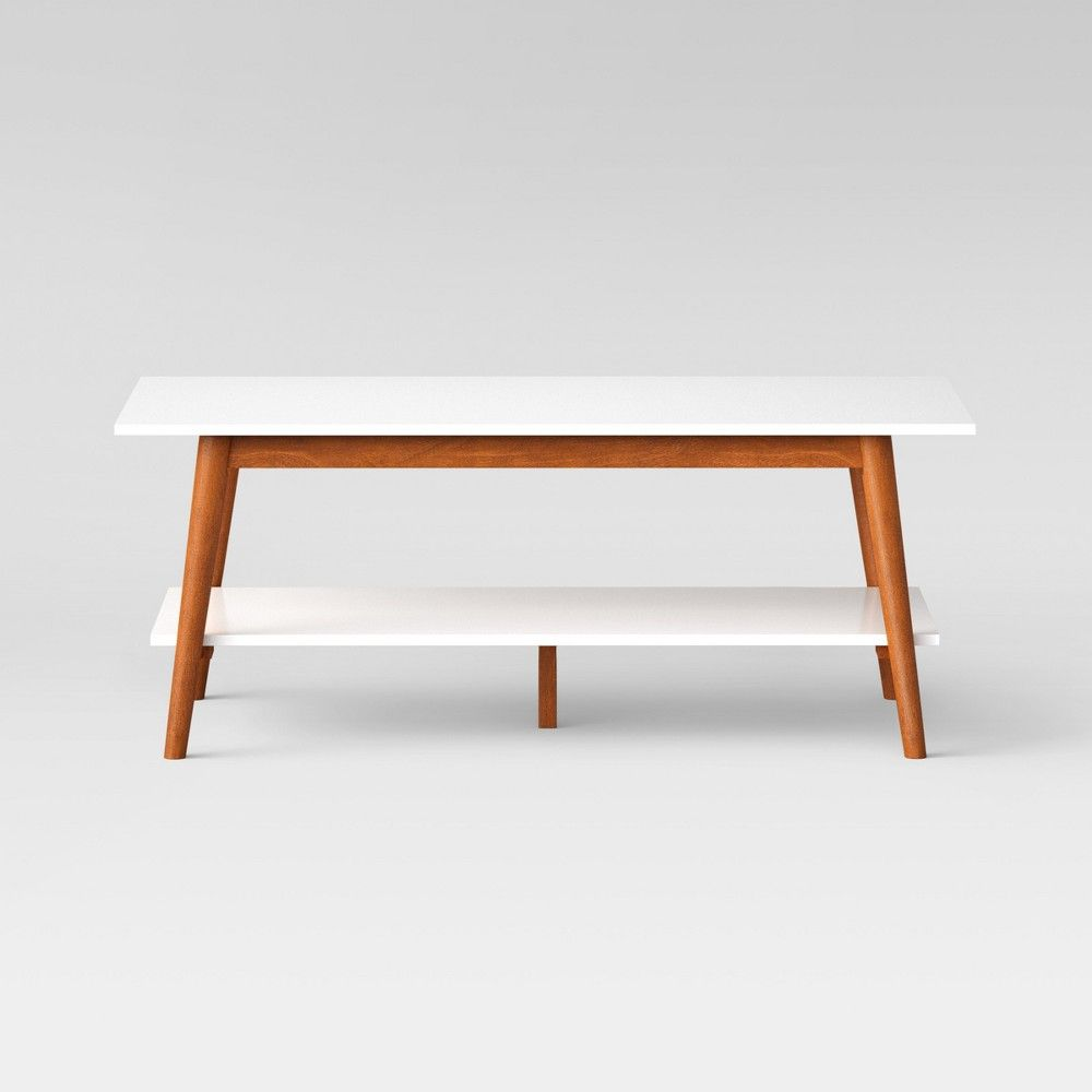 Update Your Living Room With Impeccable Style By Adding The Amherst Mid Century Modern Two Tone Mid Century Modern Coffee Table Coffee Table Coffee Table White [ 1000 x 1000 Pixel ]
